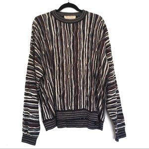 [NORMTHOMPSON] Coogi style thin knit crew sweater